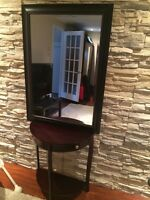 meuble meuble hall d'entrée + mirroir