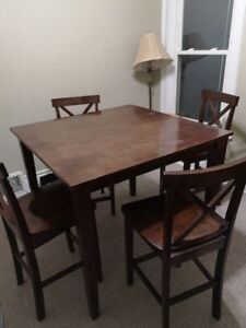 Table and chairs - pub height (pending sale)