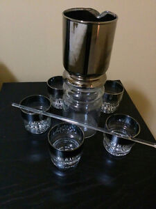 Cocktail  glass mixer and glasses