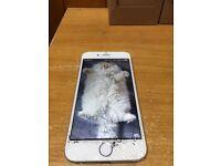 iPhone 6 16gb unlocked - cracked screen, still works