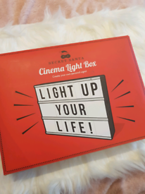 Secret santa light glow box personalised sign