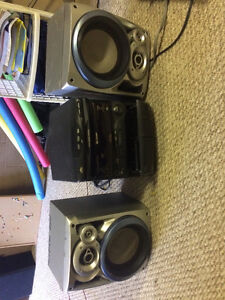 Stereo system with speakers works great $10.00