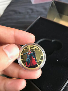 Superman Vs Batman 2016 Gold 14K Coin 1/4oz
