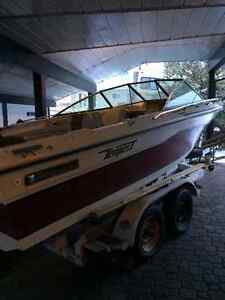 Dual axle Shorelander Trailer and 18' Project Boat-OFFERS//TRADE