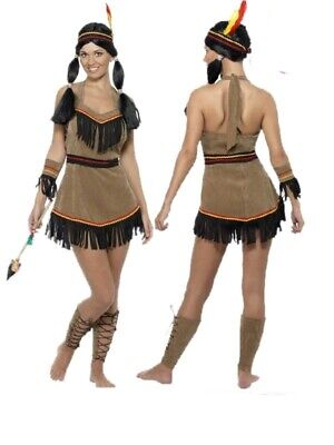 Costume Carnevale Donna Indiana Far West Western Smiffys *12361