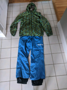 Men's Burton snow jacket and pants - medium