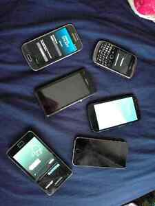 SEVERAL PHONES, all working: Samsung, iPhone, Blackberry, Sony