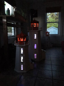 Lighthouse with solar lighting, 3 foot free delivery