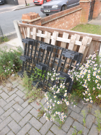 Plastic and wooden pallets- free to collect
