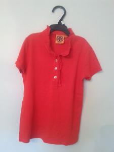 Tory Burch Girls Ruffle Shirt size L