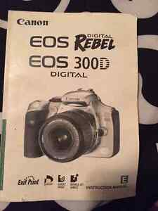Canon EOS Rbel 300D camera kit  with 18-55mm lens
