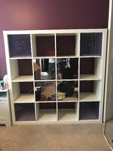 IKEA Bookcase/shelving unit 5'x5' White