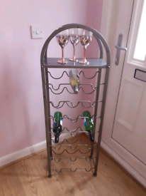 Extra Large Metal Wine Rack With Top Shelf