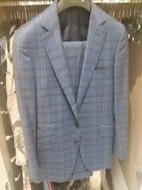Suit by SUITSUPPLY Lazio Blue Plain SIZE 40L | in London