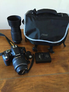 Nikon D3200 24 MP DSLR Camera with 18-55MM & 55-200MM lenses