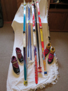 Xcountry Skis, Boots Poles Jacket and Gloves