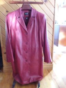 manteau cuir pour femme