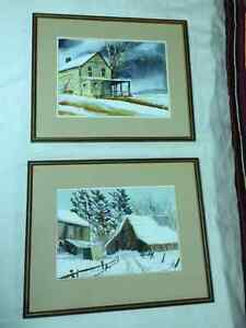 Framed Water Colours