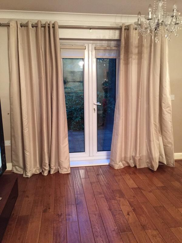 LUXURY GOLDEN CURTAINS In Swansea Gumtree