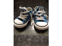 Royal Blue baby boy converse size 4