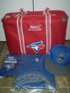 Toronto Blue Jays Fan Package ~ Cooler Socks Hat T Shirt