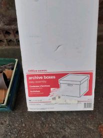 Archive boxes storage brand new