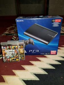 PS3 SLIM 250GB PRACTICALLY BRAND NEW  games /controllers etc