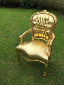 LARGE GOLD CHAIR