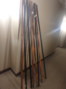 Eight 6 ft Bamboo Poles -  - Like New