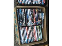 155 DVDs selling as a job lot around 30p a DVD lots of money to be made by a car booter or ebayer