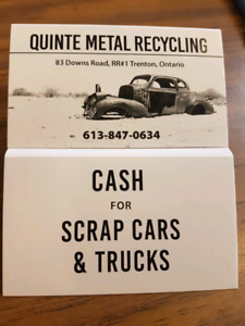 $235 a ton Cash for scrap cars and trucks