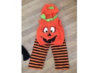 Pumpkin Halloween outfit age 1-3 years