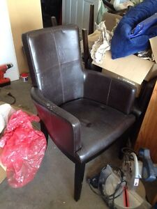 Leather chairs - pair