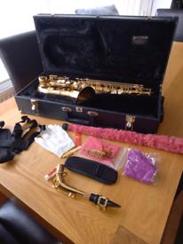 Slade saxophone in hard case