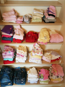 Size 6 to 12 months girls clothes