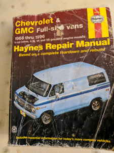 Haynes manual for Chevrolet and GMC full-size vans