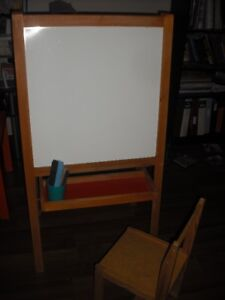 Childs Ikea Mala Easel and chair