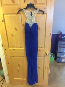 BLUE PROM DRESS FOR SALE!