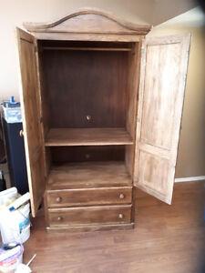 solid oak armoiur / cabinet