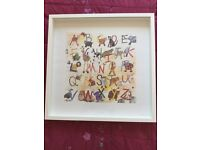 Framed Alex Clark Animal Alphabet picture