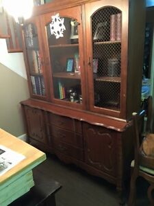 buffet hutch, table and chairs