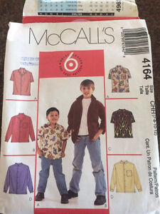 Sewing patterns for children.
