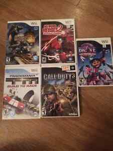Many Wii games (look at all images) / jeux Wii (liste inclus)