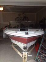 $3000 OBO!!! Fibertech 17ft ski boat 90HP MERCURY ENGINE