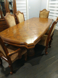 Dining Table Set with China Cabinet