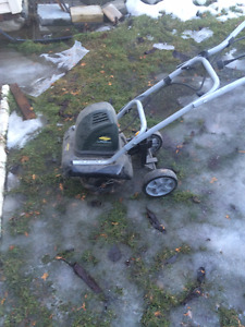 almost new Yardworks electric rototiller