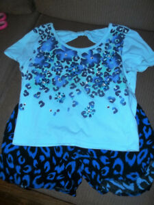 Girls Justice Short and Top - Blue/Black - EEUC