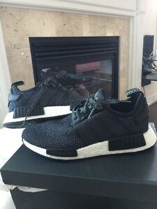 ADIDAS NMD R1 BLACK WOOL SIZE 9 BRAND NEW