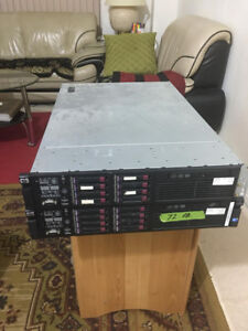 Two HP Proliant DL380 G6 Servers, 72GB and Accessories