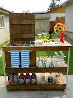 Custom Made Shelving, Furniture & Home Decor. To many to list.
